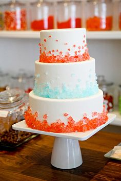 Rock Candy Wedding Cake-Candy Shop-Inspiration to Reality-Style Me Pretty by camillestyles, via Flickr