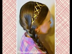 ▶ Ribbon Laced Side Braid Hairstyle, video tutorial