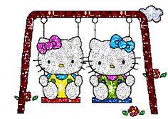 Gifs de Hello Kitty con Purpurina.