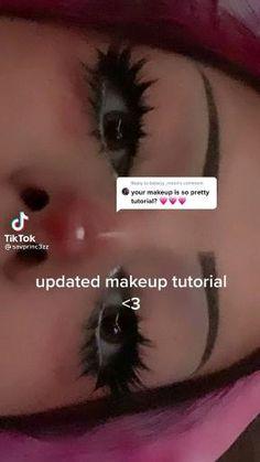 Emo Makeup, Eye Makeup Art, Girls Makeup, Skin Makeup, Anime Makeup, Korean Eye Makeup, Anime Hair, Makeup Tutorial Eyeliner, Makeup Looks Tutorial