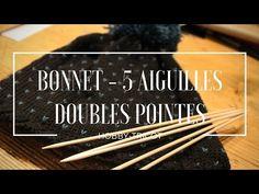 TUTO TRICOT - DIY - BONNET ADULTE MIXTE - AIGUILLES DOUBLES POINTES - YouTube