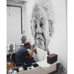 WE LOVE // Chuck Close // Fingerprint portrait