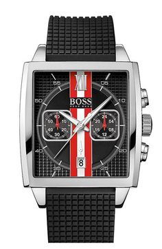 BOSS HUGO BOSS 'HB1005' Multifunction Square Dial Strap Watch, 39mm | Nordstrom