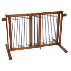 Found it at Wayfair - Freestanding Wood & Wire Pet Gate II http://www.wayfair.com/daily-sales/p/Pet-Enclosures-for-Every-Space-Freestanding-Wood-%26-Wire-Pet-Gate-II~CWP1009~E19617.html?refid=SBP.rBAjD1VJNjkalztXIOJGAsCb7g4F9E8Kntpql5rUyhc