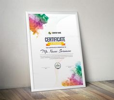 This multipurpose certificate was designed by Template Catalog Team and is sold exclusively on TemplatesCatalog Certificate Layout, Certificate Design Template, Graphic Design Templates, Graphic Design Posters, Brochure Design, Branding Design, Certificate Of Appreciation, Exhibition Poster, Layout Design