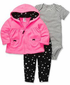 Carter's Baby Set, Baby Girls 3-Piece Cardigan, Bodysuit and Pants