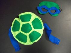 TMNT turtle mask and shell set