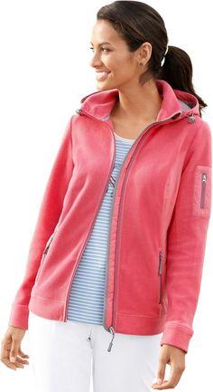 Collection L. Fleece-Jacke mit Reflektoren ab 39,99€. Fleece-Jacke mit Reflektoren, Polyester, Kapuze mit Durchzugband und Stopper, Wiener Nähte bei OTTO