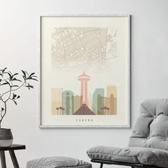 98 Skylines With City Maps Ideas In 2021 City Map Poster City Prints City Artwork