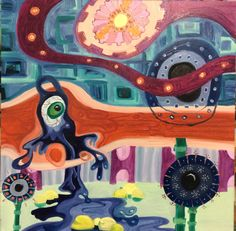 Oil painting, abstract art, Williamsburg paints, Meg Gregory, artist, art, new art, contemporary painters, art for sale, inspired by Hundertwasser, paintings, American Abstract Painter.