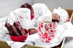Cranberry and dark chocolate biscotti