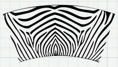 svg zebra file for 16 oz. tumbler.