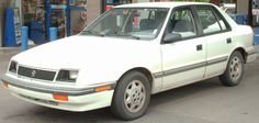 Plymouth Sundance Hatchback White Color