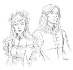 Elain and Lucien