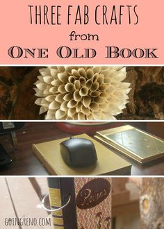 Have you ever seen an old Reader's Digest book at a thrift store? They have these gorgeous covers, and every time I see them I want to buy them--sometimes I can't help myself--but I've never known quite what to do with old books. So I took a weekend, and one gorgeous old book, and figured it out!