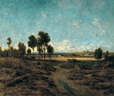 Théodore Rousseau - View of the Plain on Montmartre, 1848, oil on panel, 59.5 x 72 cm