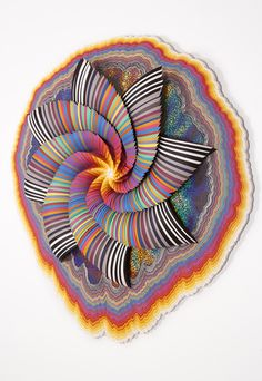 Cosmographic , 2014, acid-free paper, holographic paper, glue, wood, acrylic paint, 34 x 37 x 4 in.