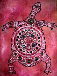 Aboriginal Turtle by shelleysupernova