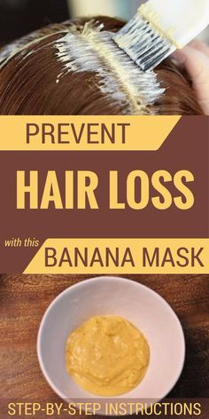 One of such methods is the banana hair mask. If you are one who is deeply concerned by your hair loss issues, you should consider this remedy, especially if you. Banana Hair Mask, Banana For Hair, Hair Loss Remedies, Prevent Hair Loss, Belleza Natural, Healthy Hair, Healthy Life, Healthy Food, Beauty Tutorials