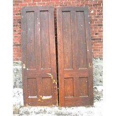 Antique Chestnut Pocket Doors