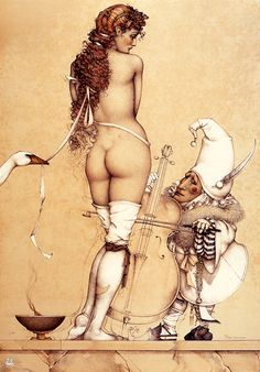 Music Master by Michael Parkes