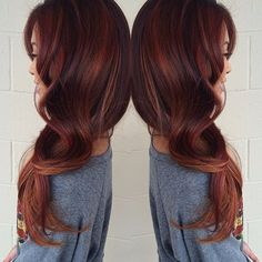 A Gorgeous Copper/Red for our Long Hair Board #LongHair #RedHead #HairColor