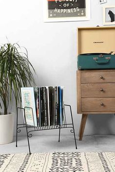 Plum & Bow Record Organizer - Urban Outfitters