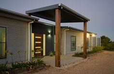 Gray Residence - HandBuilt Homes Tin House, Metal Panels, Corrugated Metal, Modern Farmhouse, House Plans, Garage Doors, New Homes, Exterior, Cement