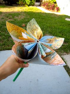 origami from old maps.  I can do this!