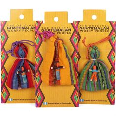 Buy Worry Dolls In Bag wholesale at competitive trade prices. Quirky Gifts, Unique Gifts, Red Company, Mother And Baby Elephant, Dad Valentine, Santa's Magic Key, Worry Dolls, Baby Hedgehog, Family Ornament