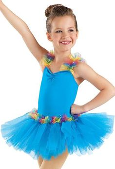 Rainbow Ruffle Tutu Dress - Little Stars ~ DancewearSolutions.com