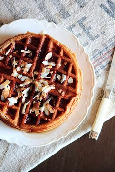 Granola Waffles with Butter Pecan Syrup | Recipe | Butter Pecan, Syrup ...