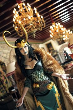 female Loki --- yeah ok. she looks like she could be the god(dess) of mischeif.