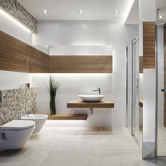 Master Bathroom Shower, White Bathroom, White Wood, Bathtub, Minimalism, Sweet Home, Interior Design, Bathrooms, House Design