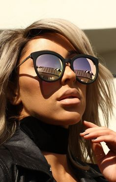 4401b17d54 Quay x Chrisspy Jetlag Black   Rose Sunglasses Mirrored Sunglasses