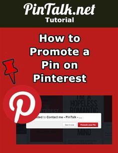 """How to Promote a Pin on Pinterest. Pinterest is making it even easier to Promote a pin. Promoted pins are the paid version of posts on Pinterest. Pins can be Promoted (this is the equivalent of """"Boosted"""" on Facebook) for the sake of getting more engagement or more website traffic.#socialmedia #DIY Email Marketing, Affiliate Marketing, Social Media Marketing, Pinterest Tutorial, Pinterest Pinterest, Pinterest For Business, Pinterest Marketing, Social Media Tips, Online Business"""