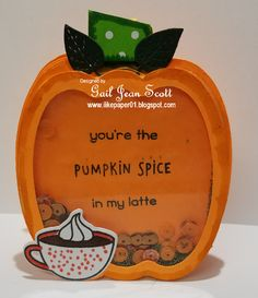 howdy crafters i have been waiting for my lawn fawn pumpkin spice latte stamp and die it arrived today so here is my shaker card t - Shaker Cafe Ideas