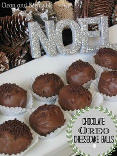 Chocolate Oreo Cheesecake Balls.   No bake and so easy to make! // cleanandscentsible.com