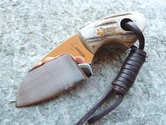 Boker Plus Gnome Stag VoxKnives Cool Knives, Knives And Tools, Knives And Swords, Global Knife Set, Neck Knife, Knife Sheath, Handmade Knives, Knife Sharpening, Custom Knives