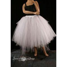 Formal Adult Tulle Tutu Skirt Princess Dancer Wedding Bridal Bustle... ($125) ❤ liked on Polyvore