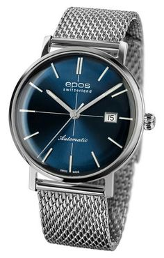Epos | Originale 3437_ Influenced by former epochs, EPOS created a new model sporting a distinctive retro-look. Using state-of-the-art technology, EPOS breathes new life into the watch design of the 1960s. The new retro-look of this watch is classic with clear lines and colorful dials – A fusion of traditional design and modern technology.