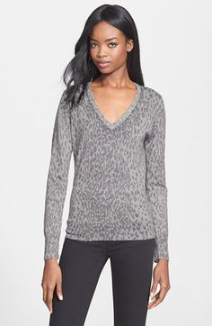 Equipment 'Cecile' V-Neck Sweater available at #Nordstrom
