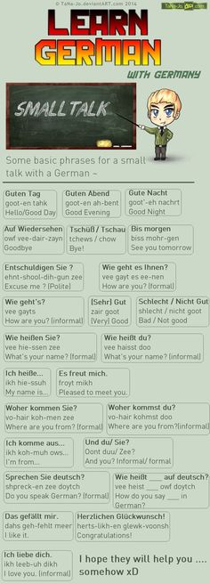 Learn German - Phrases - Talking by TaNa-Jo.deviantart.com on @DeviantArt