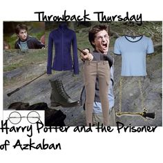 Throwback Thursday: Harry Potter/The Prisoner of Azkaban by sstark2010 on Polyvore featuring Roxy, Topshop, School Rag and Frye