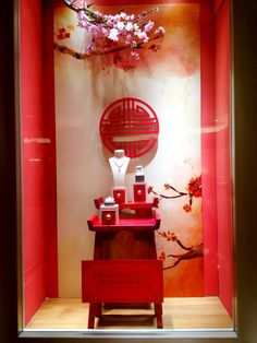 "Mondial Chinese New Year Window Display ""When Prosperity Come, do not use it all"""