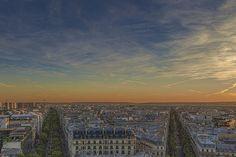 Paris vue de l'Arc de Triomphe