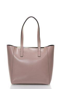Taupe Brown Saffiano Leather Bag - COCCINELLE ea3983def7a2e