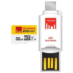 Buy online #Strontium 32GB Nitro UHS1 MSD Card With OTG #Card Reader Memory Card @ p3store.com for Rs.703/-