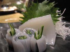 Japanese squid sashimi