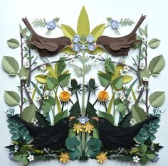 Another paper cut collage by Helen Musselwhite